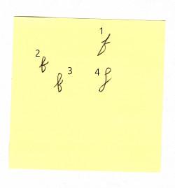 how do you write a cursive f